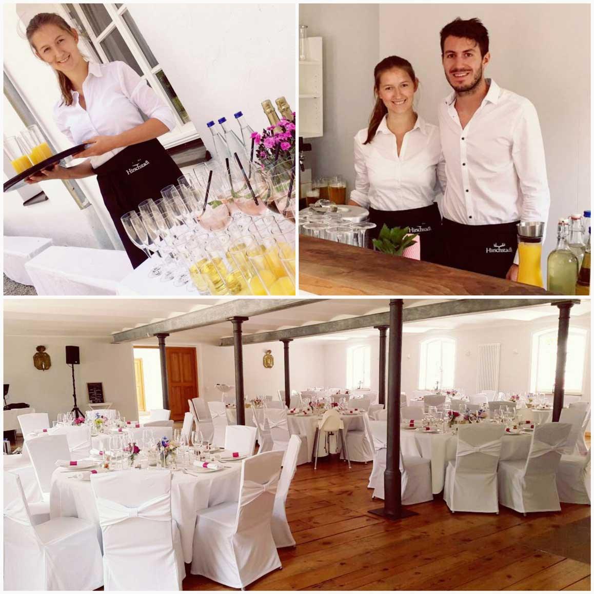 Sevicepersonal für den mobilen Cocktailservice mieten im Großraum München auch mit mobile Barkeeper
